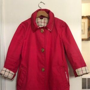 Hot Pink Coach Trench Coat